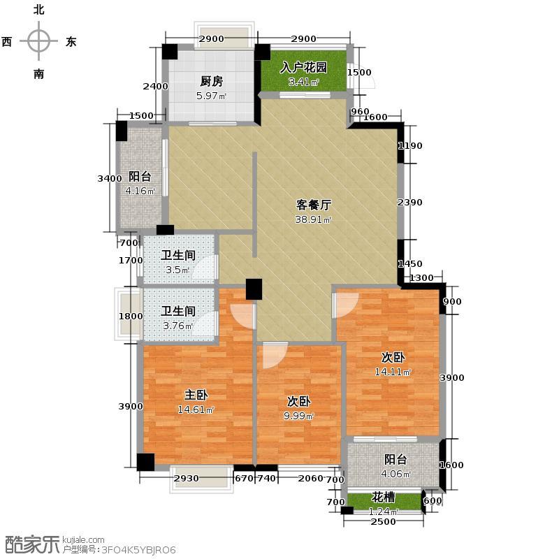 正祥特区・美居132.75㎡2011-5-11户型3室2厅2卫