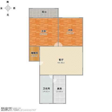 长桥八村2室1厅1卫1厨202.00㎡户型图
