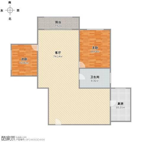 武宁苑2室1厅1卫1厨174.00㎡户型图