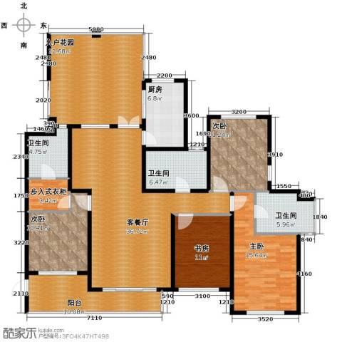 滨湖世纪城4室1厅3卫1厨202.00㎡户型图