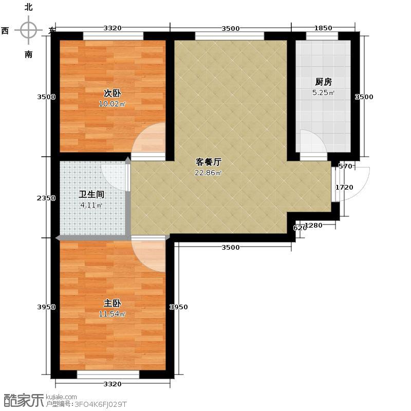 华大天朗国际社区60.00㎡A户型10室