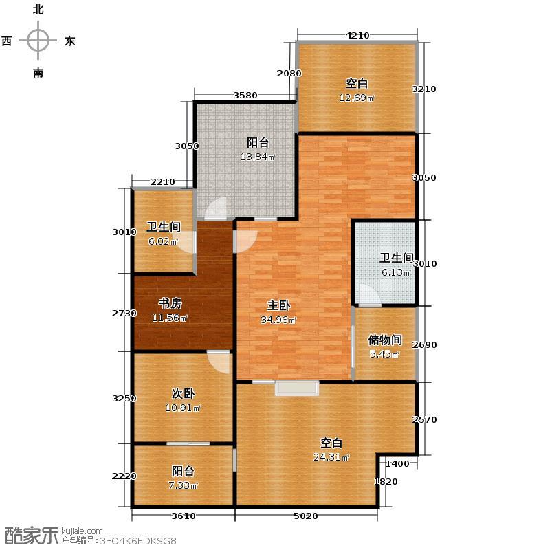 我的家园185.32㎡-下层户型3室2卫