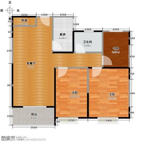 祥源城3室2厅1卫0厨90.00㎡户型图