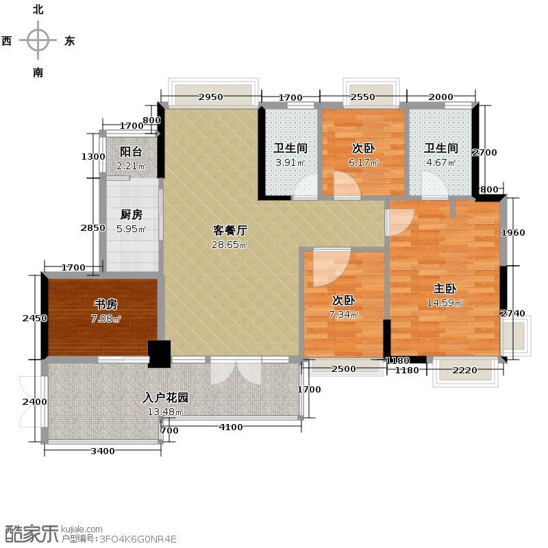 宏远御庭山104.00㎡5栋06栋0户型4室2厅2卫