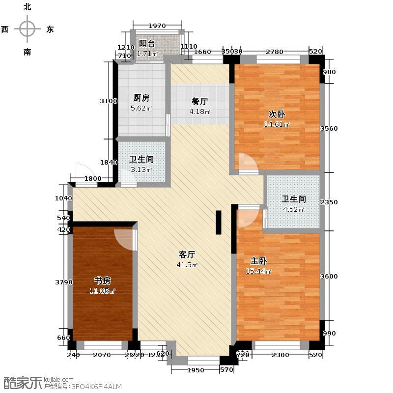 天润中华城110.77㎡户型10室