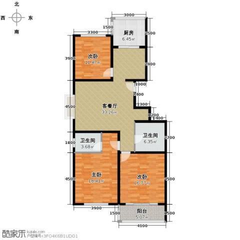 晋水上3室2厅2卫0厨130.00㎡户型图