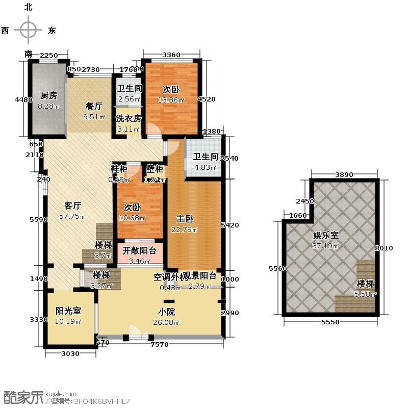 豪门府邸156.47㎡户型3室1厅2卫1厨