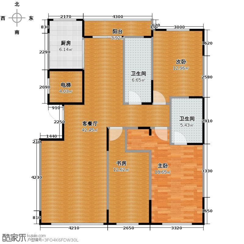 好景山庄142.00㎡A2户型3室2厅2卫