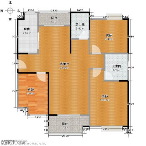 祥源城3室2厅2卫0厨114.00㎡户型图