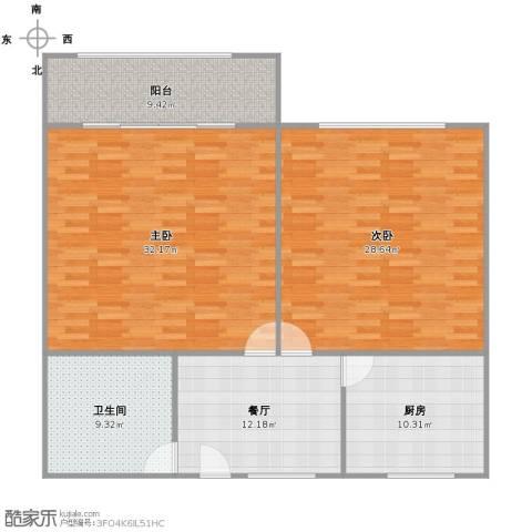 海滨五村2室1厅1卫1厨135.00㎡户型图