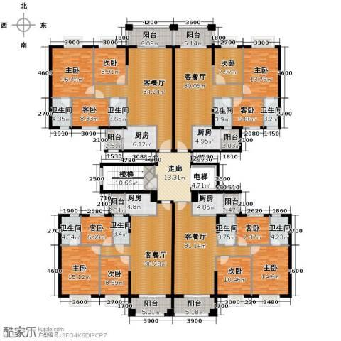 丽南名都9室4厅8卫4厨513.00㎡户型图