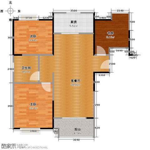祥源城3室2厅1卫0厨96.00㎡户型图