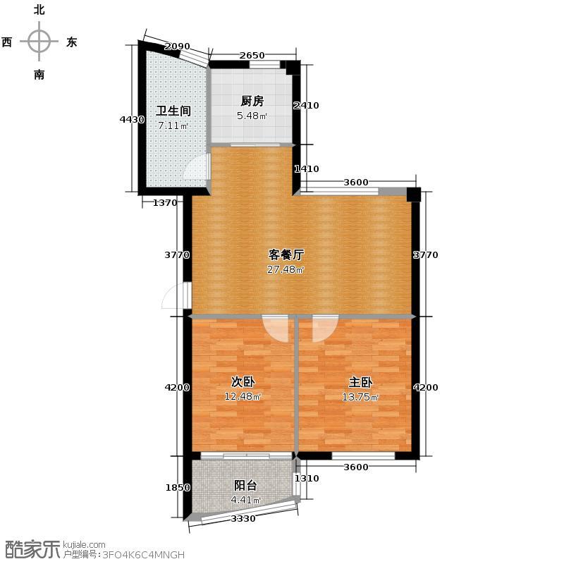 太平洋名苑78.87㎡-户型2室1厅1卫1厨