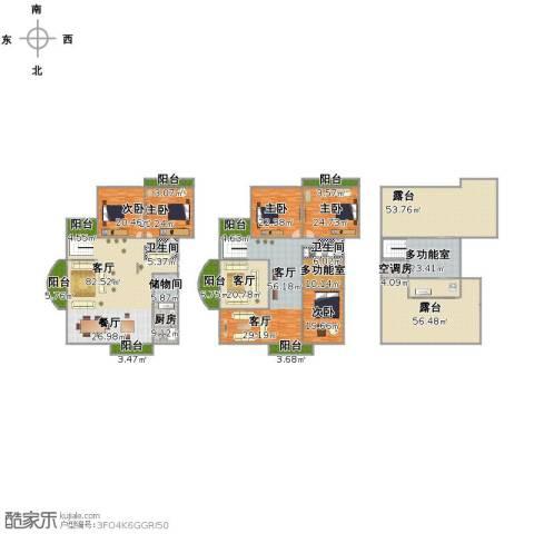 万家花园家和苑5室3厅3卫1厨632.00㎡户型图