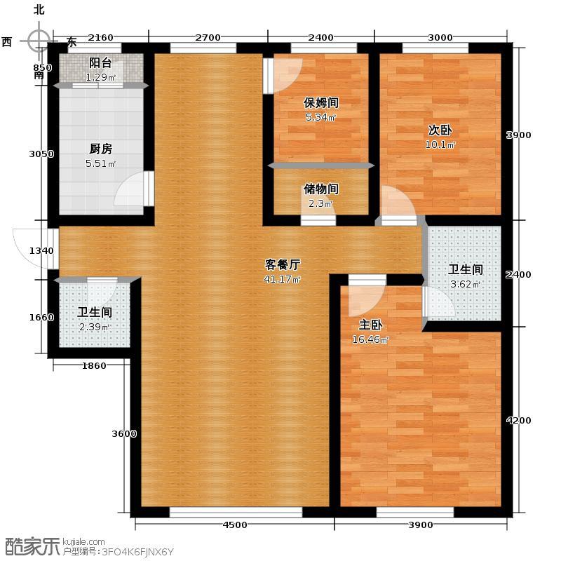 福苑101.03㎡户型2室1厅2卫1厨