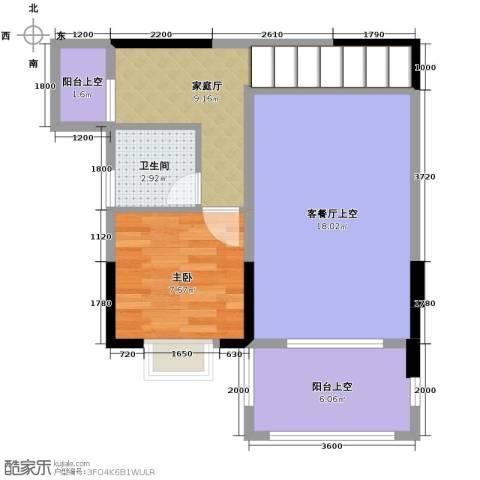 人信太子湾1室0厅1卫0厨84.00㎡户型图