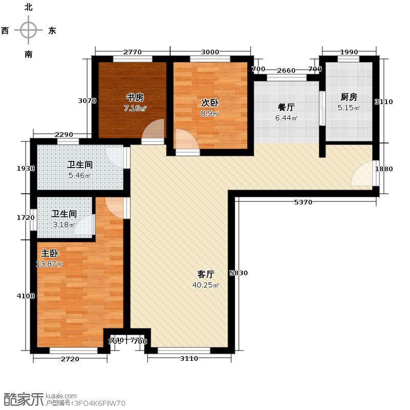 永定河孔雀城英国宫118.00㎡高层22#楼A-8户型3室2厅2卫