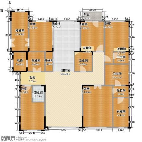 中海紫金苑4室2厅4卫0厨260.00㎡户型图