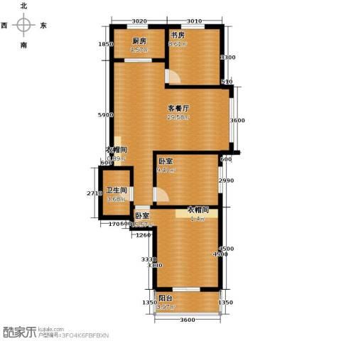 西堤国际1室1厅1卫1厨110.00㎡户型图