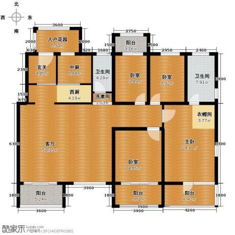 廊坊孔雀城4室2厅2卫0厨195.00㎡户型图