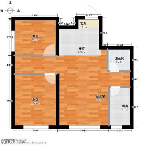 城建南郡2室2厅1卫0厨76.00㎡户型图