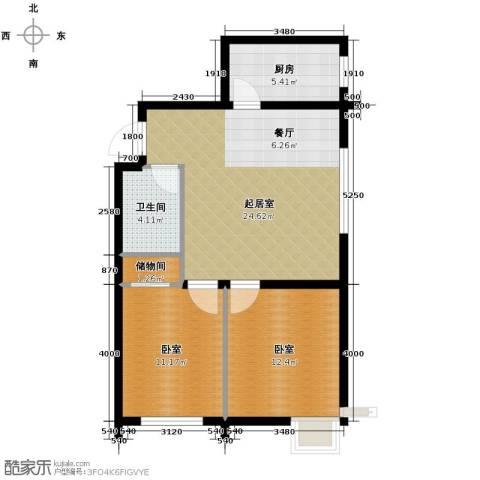海伦堡2室2厅1卫0厨85.00㎡户型图