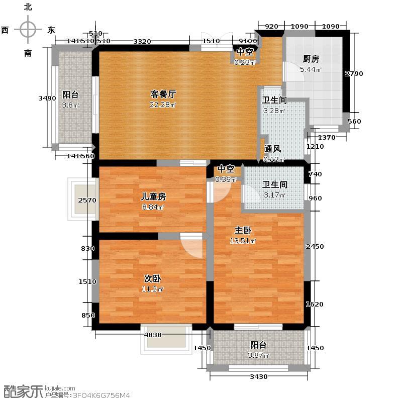 海�台北湾114.00㎡A户型3室2厅2卫