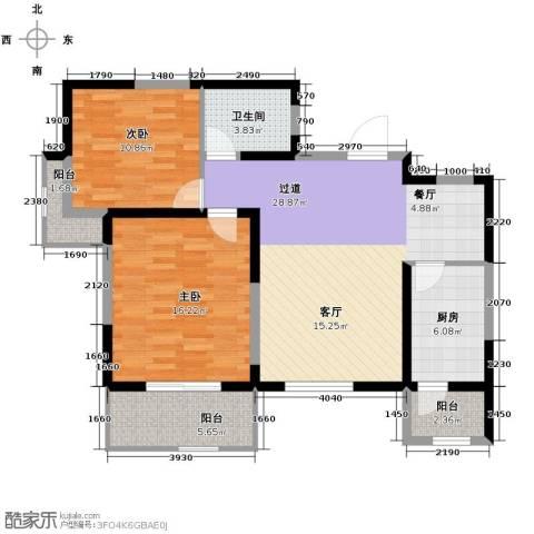 紫郡观澜2室2厅1卫0厨108.00㎡户型图