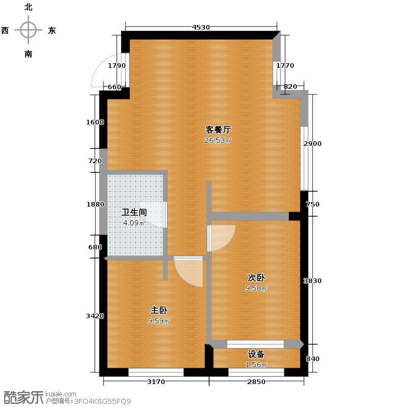 霍尔寓所67.30㎡C3户型2室2厅1卫