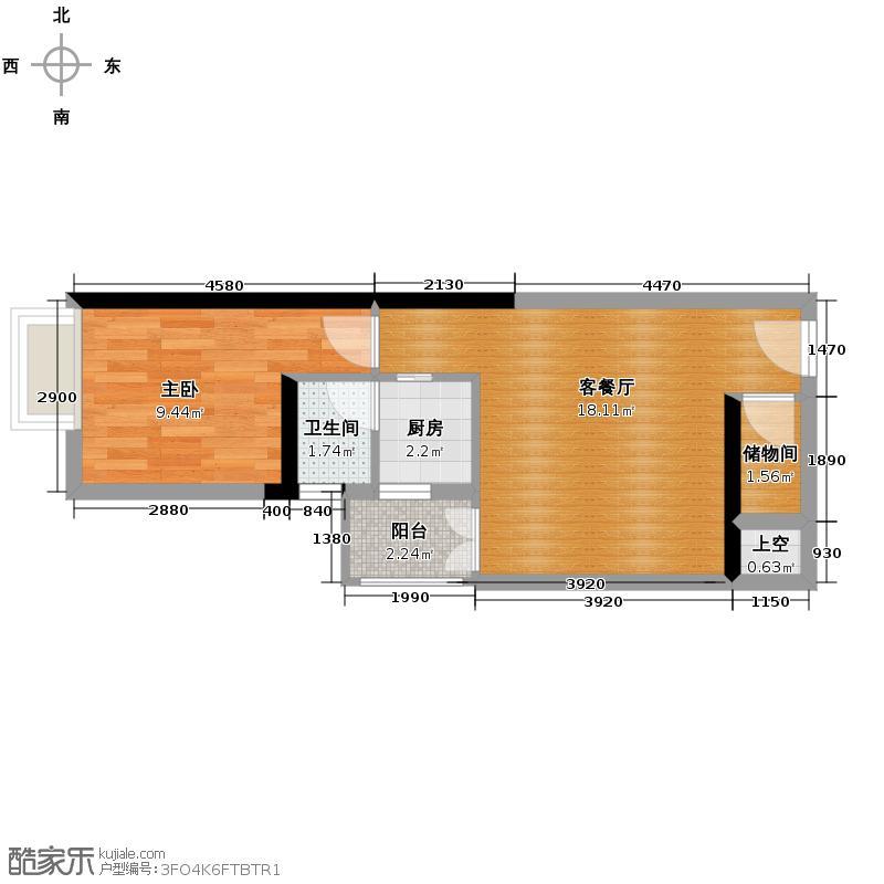 港澳8号42.21㎡拿铁A-05A-06A-07A-08B-02B-05B-06B-07B-08户型1室1厅1卫1厨