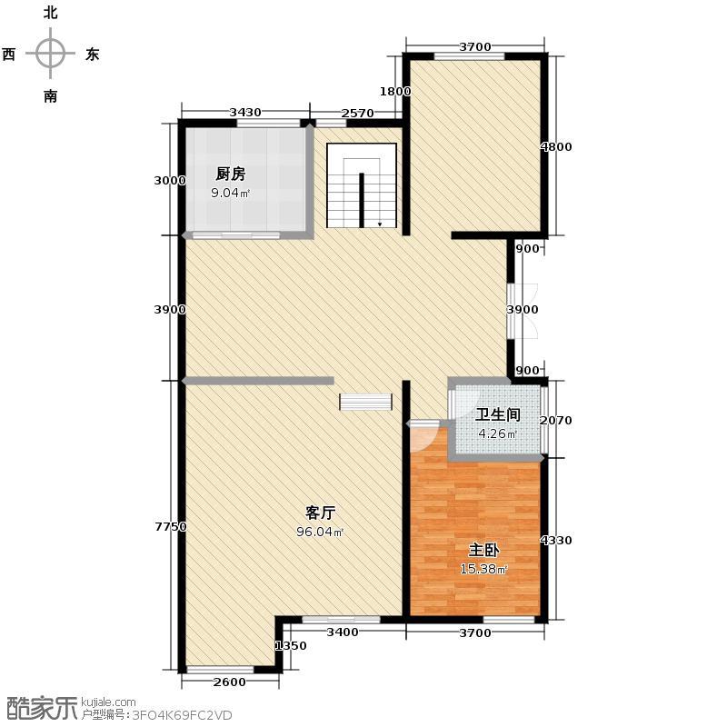 林隐天下200.00㎡A1别墅62米挑高门厅与客厅错层设计中西厨分离设计6米豪阔开间主卧户型1室1厅1卫1厨