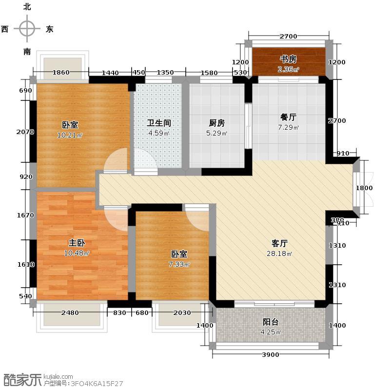 光谷新世界108.00㎡C2户型3室2厅1卫