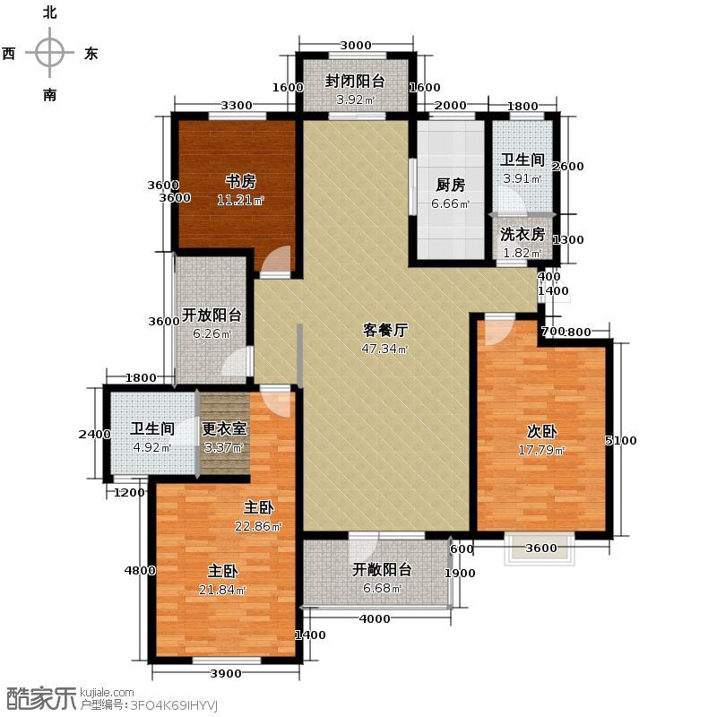 曲院风荷152.00㎡D3-3户型10室