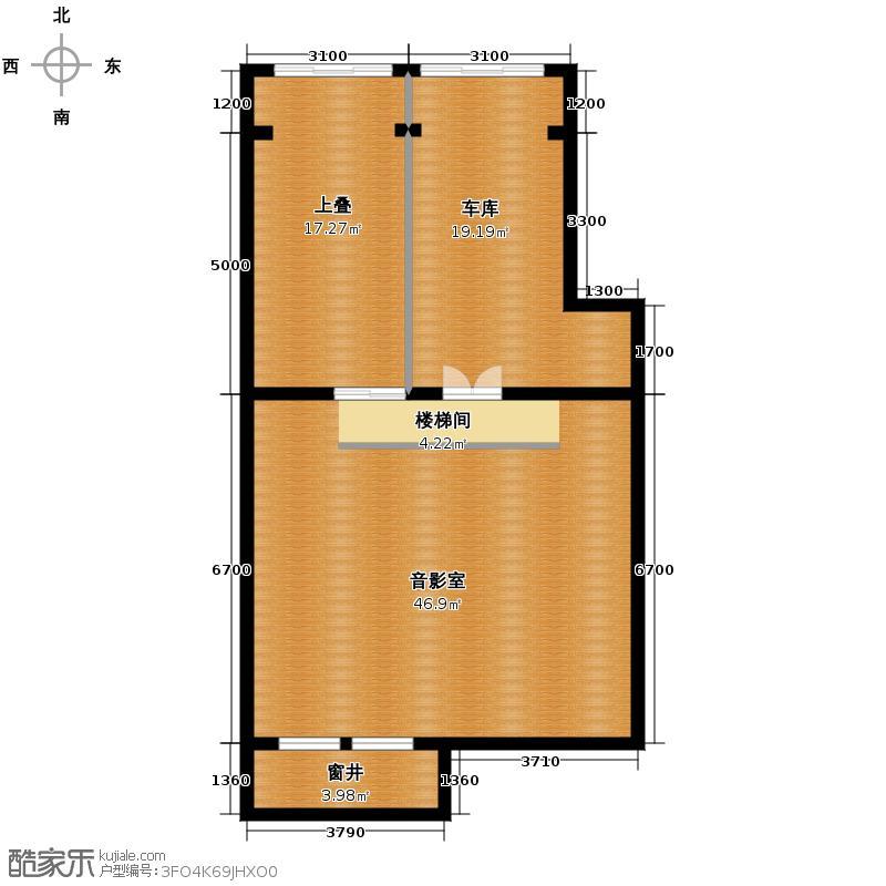 天鹅堡272.00㎡M-N下地下层户型10室