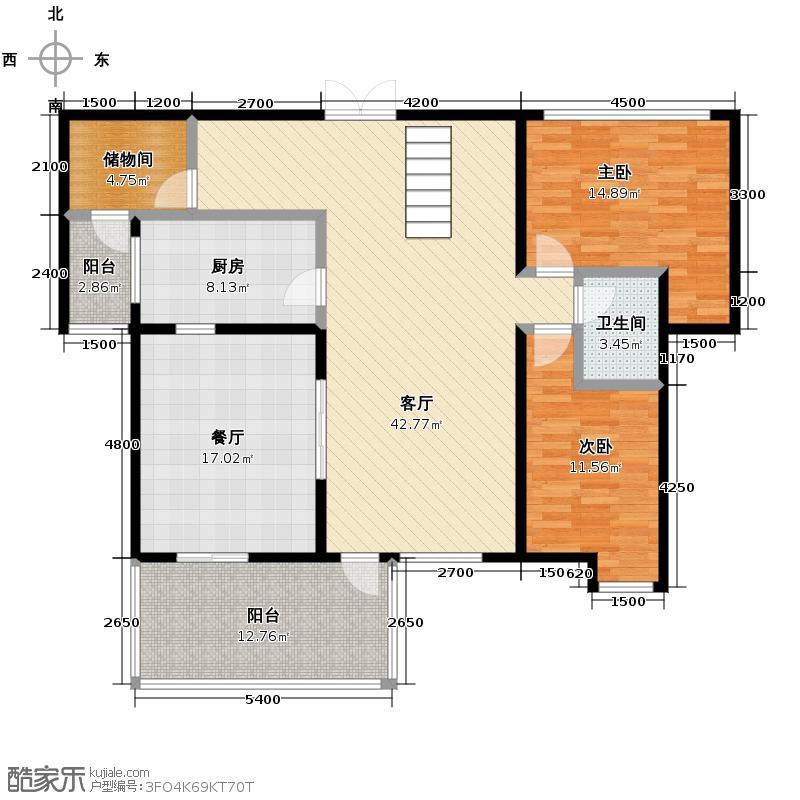 凯德风尚215.60㎡13号楼A2-y一层户型4室2厅2卫
