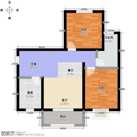 观澜天下2室2厅1卫0厨90.00㎡户型图