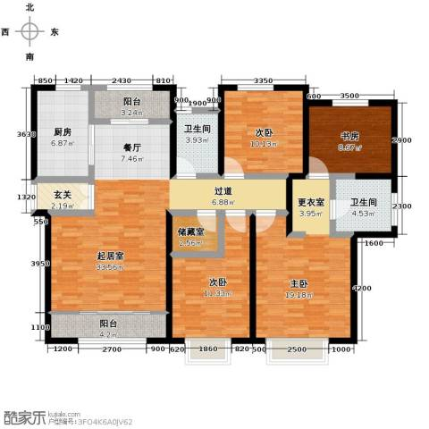 路劲太阳城4室2厅2卫0厨161.00㎡户型图
