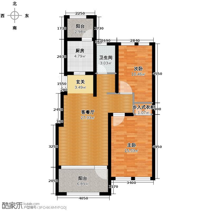 群力玫瑰湾63.33㎡G04-G06户型2室1厅1卫1厨