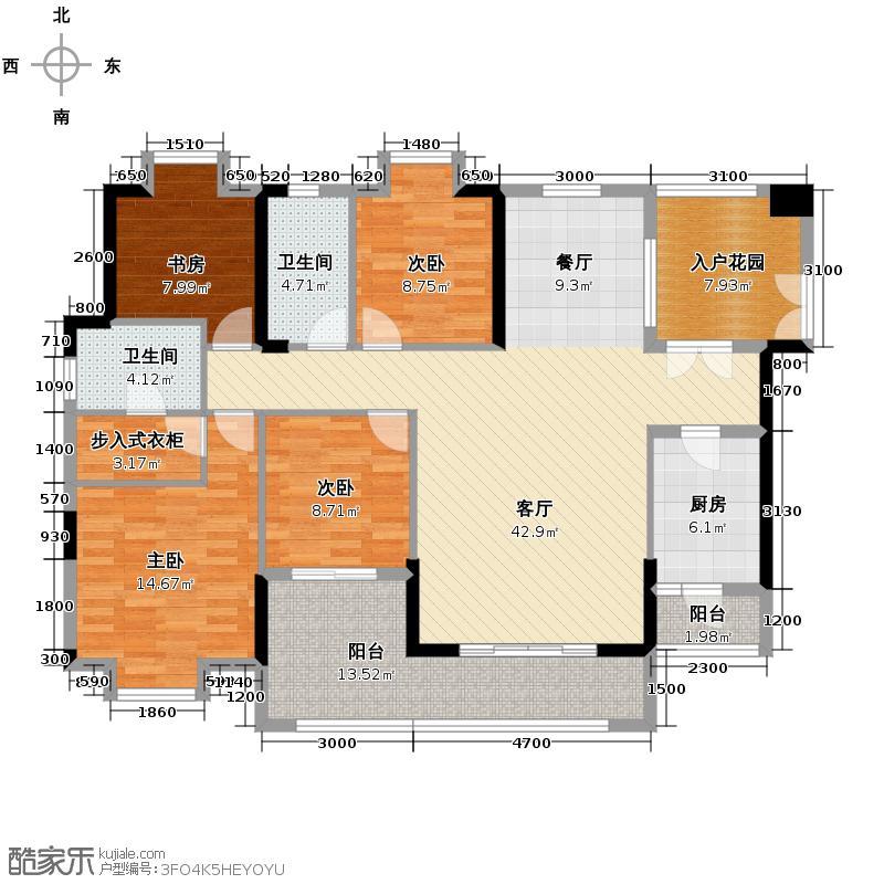 卓越蔚蓝海岸147.00㎡7#B、C户型3室1厅2卫