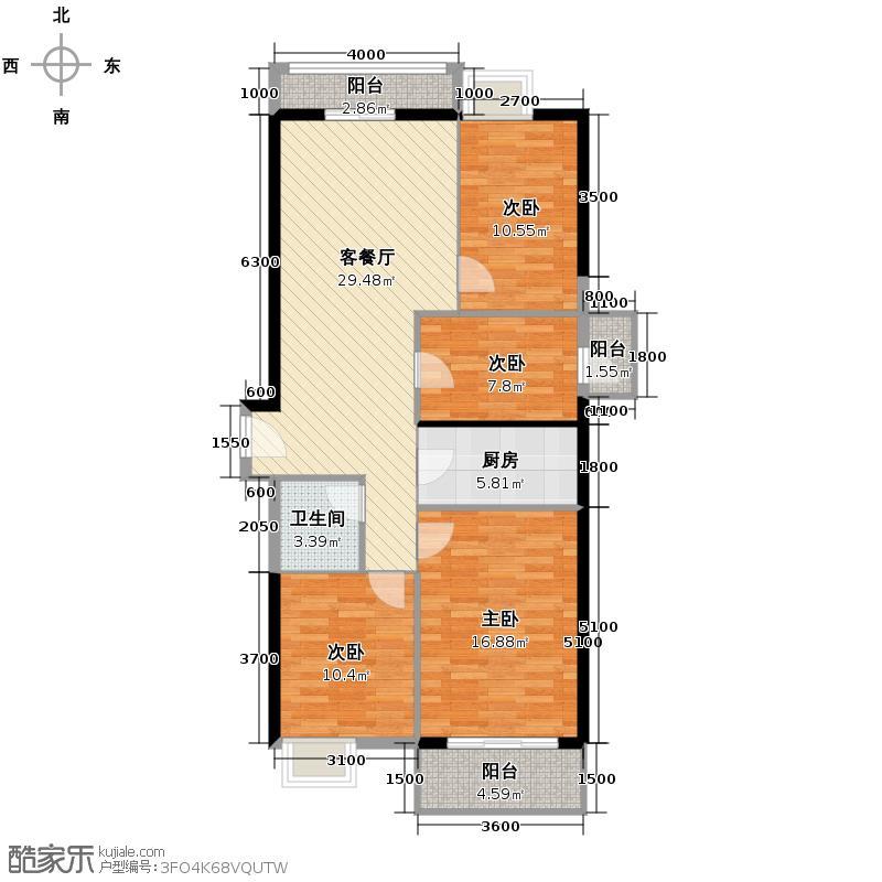 中南路88号133.00㎡户型10室