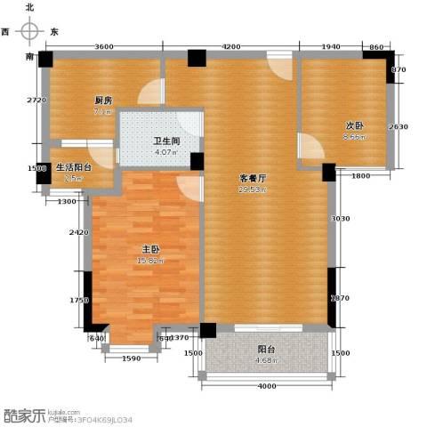 华汉广场2室2厅1卫0厨92.00㎡户型图