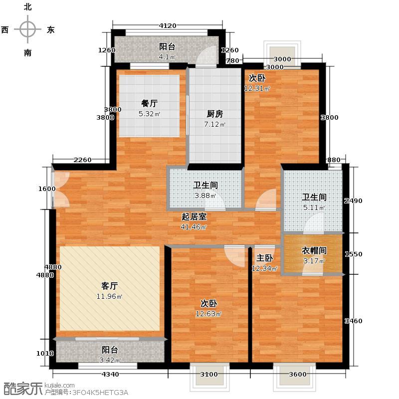 北京新天地147.08㎡三期24#E-E反户型10室