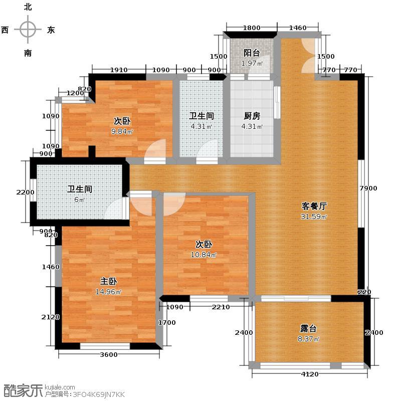 龙城国际89.00㎡B3户型10室