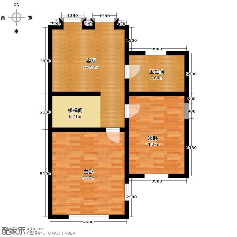 大唐壹号领馆76.33㎡11/12号楼04二层户型10室