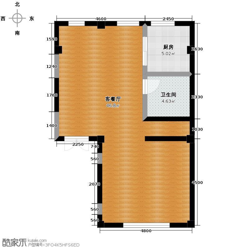 大唐壹号领馆63.90㎡10号楼01二层户型10室