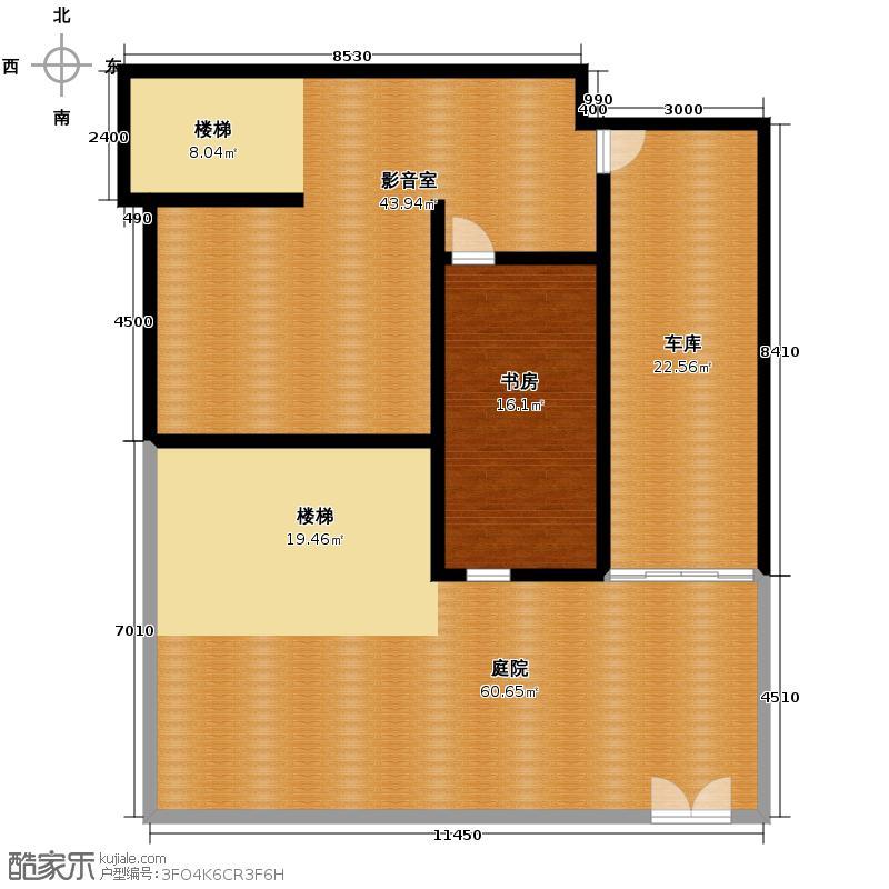 晟煜东湖湾97.83㎡F1-01建面平米叠拼花园别墅-1F户型1室