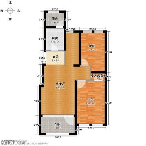 群力玫瑰湾2室1厅0卫1厨72.15㎡户型图