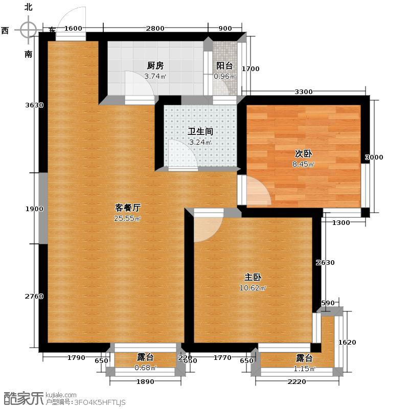 翡丽城33.34㎡户型1室1厅1卫
