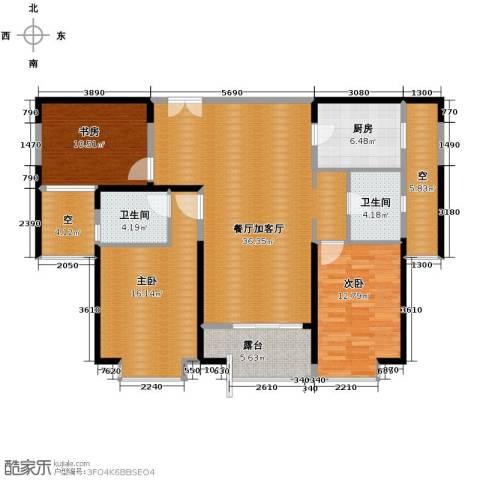 九方城3室2厅2卫0厨148.00㎡户型图