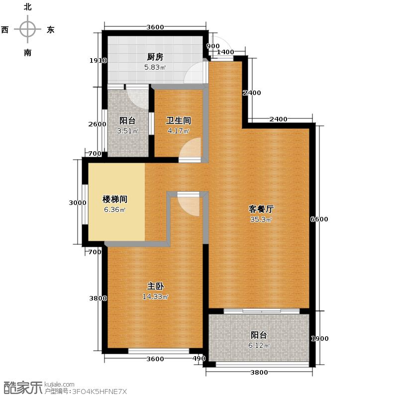 置信国色天乡鹭湖宫5号社区157.00㎡J型赠送下层户型10室